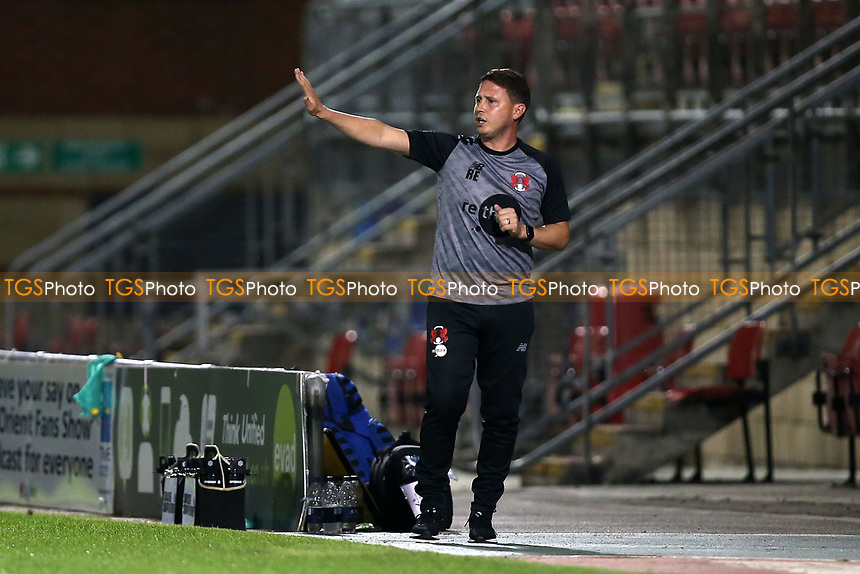 Leyton Orient manager Ross Embleton during Leyton Orient vs Plymouth Argyle, Caraboa Cup Football at The Breyer Group Stadium on 15th September 2020