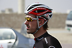 Fabian Cancellara (SUI) Radioshack-Nissan Trek before the start of Stage 1 of the Tour of Qatar 2012 running 142.5km from Barzan Towers to Doha Golf Club, Doha, Qatar. 5th February 2012.<br /> (Photo by Eoin Clarke/NEWSFILE).