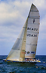Young America, USA-36, was the yacht campaigned by the Young America team in the defender trials of the 1995 America's Cup held off San Diego, California.