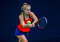 Hilversum, Netherlands, December 3, 2017, Winter Youth Circuit Masters, 12,14,and 16 years, Rixt van der Werff (NED)<br /> Photo: Tennisimages/Henk Koster