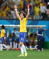David Luiz of Brazil celebrates at the final whistle