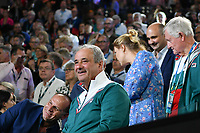 January 1, 2020: The father of 14th seed SOFIA KENIN (USA) celebrates after Kenin defeated GARBIÑE MUGURUZA (ESP) on Rod Laver Arena in the Women's Singles Final match on day 13 of the Australian Open 2020 in Melbourne, Australia. Photo Sydney Low. Kenin won 46 62 62