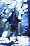 Schoolgirl walking