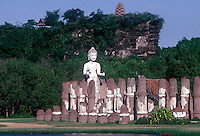 Ruins of Dvaravati Wihan in the Ancient City Samut Prakan Historical Siam , Thailand