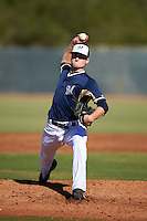 Milwaukee Brewers pitcher Karsen Lindell (58) during an Instructional League game against the Cincinnati Reds on October 14, 2016 at the Maryvale Baseball Park Training Complex in Maryvale, Arizona.  (Mike Janes/Four Seam Images)