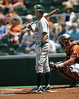 Baylor SS Beemer Weems prepares to bat against Texas on May 3rd, 2008. Photo by Andrew Woolley / Four Seam Images