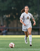 NEWTON, MA - AUGUST 29: Samantha Agresti #15 of Boston College brings the ball forward during a game between Boston University and Boston College at Newton Campus Field on August 29, 2019 in Newton, Massachusetts.