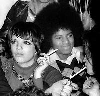 Liza Minnelli Michael Jackson at Studio 54 1978<br /> Photo By Adam Scull/PHOTOlink.net