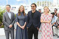 DIRECTOR OF PHOTOGRAPHY EMMANUEL LUBEZKI, PRODUCER MARY PARENT, DIRECTOR ALEJANDRO GONZALEZ INARRITU AND MIUCCIA PRADA - PHOTOCALL OF THE FILM 'CARNE Y ARENA' AT THE 70TH FESTIVAL OF CANNES 2017