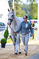 NZL-Caroline Powell with Sinatra Frank Baby during the 1st Horse Inspection, CCI4* presented by DHL , at the 2017 Luhmühlen International Horse Trial. Wednesday 14 June. Copyright Photo: Libby Law Photography