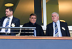 Motherwell v St Johnstone.....16.04.11  Scottish Cup Semi-Final.Saints Chairman Geoff Brown (centre) with fellow directors Steve Brown (left) and Abby Ramsay.Picture by Graeme Hart..Copyright Perthshire Picture Agency.Tel: 01738 623350  Mobile: 07990 594431