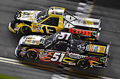 2017 Camping World Truck - NextEra Energy Resources 250<br /> Daytona International Speedway, Daytona Beach, FL USA<br /> Friday 24 February 2017<br /> Myatt Snider and Cody Coughlin<br /> World Copyright: Nigel Kinrade/LAT Images<br /> ref: Digital Image 17DAY2nk10504