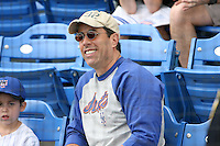 March 21, 2010:  Comedian/Actor Jerry Seinfeld watches his favorite team the  New York Mets during a Spring Training game at Tradition Field in St. Lucie, FL.  Photo By Mike Janes/Four Seam Images