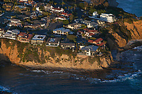aerial photograph Pacific Coast clifftop residences, Orange County, California