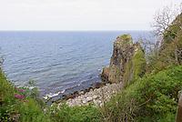 """Granitklippen Jons Kapel an der Westküste der Insel Bornholm, Dänemark, Europa<br /> Granite Cliffs """"Jons Kapel"""", Westcoast, isle of Bornholm, Denmark"""