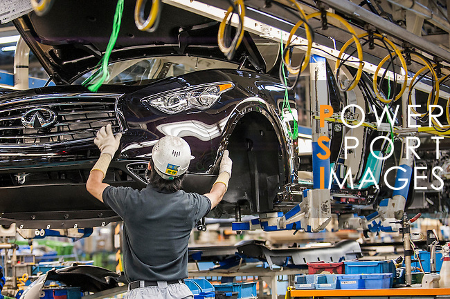 Filming at the Nissan's Global manufacturing plant on October 02, 2012 in Tochigi, Japan. Photo by Victor Fraile / The Power of Sport Images
