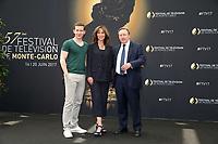 NICK HENDRIX, FIONA DOLMAN, NEIL DUDGEON - Photocall 'MIDSOMER MURDERS' - 57ème Festival de la Television de Monte-Carlo. Monte-Carlo, Monaco, 18/06/2017. # 57EME FESTIVAL DE LA TELEVISION DE MONTE-CARLO - PHOTOCALL 'MIDSOMER MURDERS