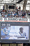Tribute to Dalian Atkinson during La Liga match. August 21,2016. (ALTERPHOTOS/Acero)