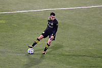 COLUMBUS, OH - DECEMBER 12: Lucas Zelarayan #10 of the Columbus Crew plays the ball during a game between Seattle Sounders FC and Columbus Crew at MAPFRE Stadium on December 12, 2020 in Columbus, Ohio.