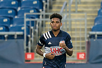 FOXBOROUGH, MA - AUGUST 7: Orlando Sinclair #99 of New England Revolution II during a game between Orlando City B and New England Revolution II at Gillette Stadium on August 7, 2020 in Foxborough, Massachusetts.