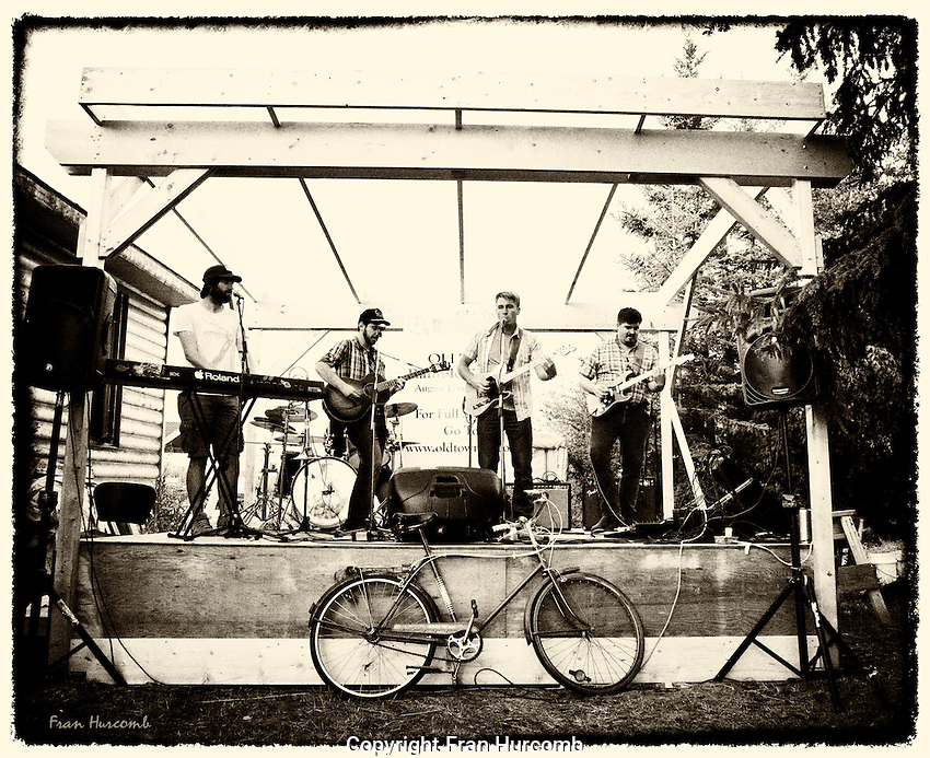 Erebus and Terror band at Old Town Ramble and Ride in Yellowknife