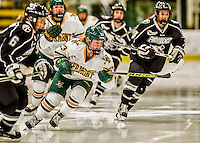 13 November 2015: University of Vermont Catamount Forward Alyssa Gorecki, a Freshman from Monee, IL, in action against the Providence College Friars at Gutterson Fieldhouse in Burlington, Vermont. The Lady Friars defeated the Lady Cats 4-1 in Hockey East play. Mandatory Credit: Ed Wolfstein Photo *** RAW (NEF) Image File Available ***