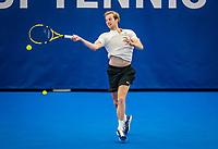 Amstelveen, Netherlands, 18  December, 2020, National Tennis Center, NTC, NK Indoor, National  Indoor Tennis Championships,   : Botic van de Zandschulp (NED) <br /> Photo: Henk Koster/tennisimages.com