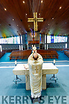 Fr Padraig Walsh saying mass at Saint Brendan's Church, Tralee on Tuesday, Saint Patrick's Day.