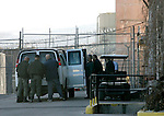 Officials move the last handful of inmates out of the historic Nevada State Prison, in Carson City, Nev.,on Monday, Jan. 9, 2012. The 150-year-old facility has been closed by state budget cuts..Photo by Cathleen Allison