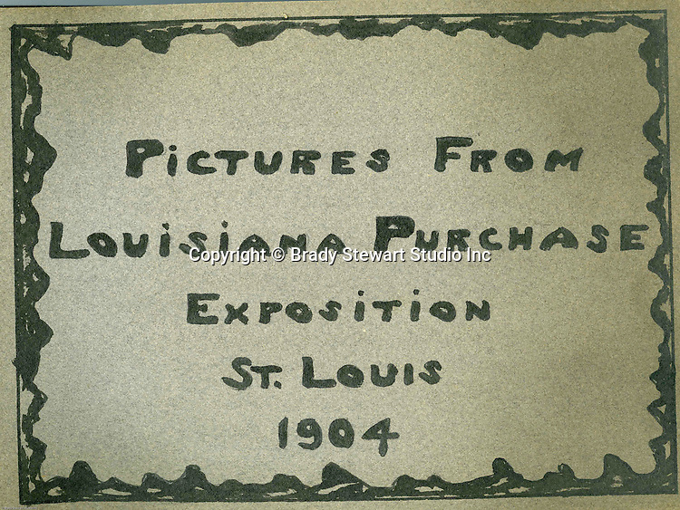 St Louis MO:  The following images were taken by Brady Stewart at the 1904 Louisiana Purchase Exposition or better know today at the 1904 World's Fair in St Louis.  Through his business relationship with the Wabash Railroad, he received free tickets and transportation to the event.  He later mentioned that either the camera or film (or both) were to blame for the lack of image quality .  He mentioned that it was very hot and humid during his stay and that more than likely affected the overall image quality.