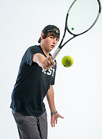 NWA Democrat-Gazette/BEN GOFF @NWABENGOFF<br /> Hayden Shoemake of Bentonville West, boys tennis singles player of the year, poses for a photo Thursday, Nov. 29, 2018, at the Northwest Arkansas Democrat-Gazette studio in Springdale.