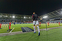 Mike van der Hoorn of Swansea City exits the tunnel for the warm-up session during the Sky Bet Championship match between Swansea City and Blackburn Rovers at the Liberty Stadium, Swansea, Wales, UK. Tuesday 23 October 2018
