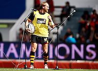 Photo: Richard Lane/Richard Lane Photography. RC Toulon v Wasps.  European Rugby Champions Cup Quarter Final. 05/04/2015. Wasps' Andy Goode during warm up.