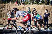 cheering the riders up the Cima Gallisterna Climb (2.3km @ 7%) <br /> <br /> Women's Elite Road Race from Imola to Imola (143km)<br /> <br /> 87th UCI Road World Championships 2020 - ITT (WC)<br /> <br /> ©kramon