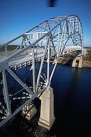 Sagamore Bridge spanning the Cape Cod Canal. Massachusetts.