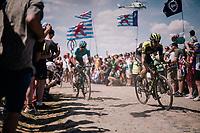 Luke Durbridge (AUS/Mitchelton Scott) on pavé sector #4<br /> <br /> Stage 9: Arras Citadelle > Roubaix (154km)<br /> <br /> 105th Tour de France 2018<br /> ©kramon