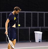 Rotterdam, The Netherlands, 28 Februari 2021, ABNAMRO World Tennis Tournament, Ahoy, Practice. Danill Medvedev (RUS).<br /> Photo: www.tennisimages.com
