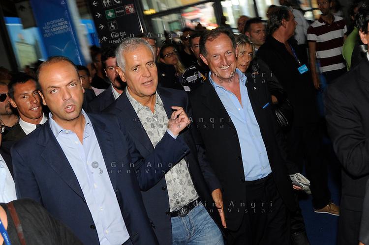 Roberto Formigoni, Angelino Alfano,Mario Mantovani al meeting CL 2011