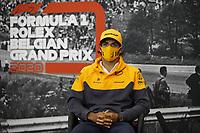 27th August 2020, Spa Francorhamps, Belgium, F1  Grand Prix of Belgium Motorsports: FIA Formula One World Championship 2020, Grand Prix of Belgium, 55 CarlSainz ESP, McLaren F1 Team