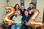 Jennifer White celebrating her 22nd birthday at home in St Brendan's Park on Saturday. Seated l to r: Jennifer and Paddy White. Back l to r: Alex, Kathleen and Thomas White.