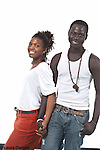High school seniors informal portraits portrait of couple