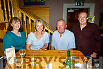 Annette Keane (Castlemaine), Theresa and John Keane (Ballymac) and Sean Keane (Castlemaine) enjoying the Johnny McEvoy concert in O'Riadas on Friday night.