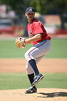 March 21st 2008:  Ryne Reynoso of the Atlanta Braves minor league system during Spring Training at Tiger Town in Lakeland, FL.  Photo by:  Mike Janes/Four Seam Images