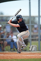 Plymouth State Panthers second baseman Nate Frederick (33) at bat during the second game of a doubleheader against the Edgewood Eagles on March 17, 2016 at Lee County Player Development Complex in Fort Myers, Florida.  Plymouth State defeated Edgewood 16-3.  (Mike Janes/Four Seam Images)