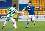 St Johnstone v Celtic…04.10.20   McDiarmid Park  SPFL<br />Danny McNamara and Greg Taylor.<br />Picture by Graeme Hart.<br />Copyright Perthshire Picture Agency<br />Tel: 01738 623350  Mobile: 07990 594431
