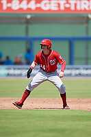 Washington Nationals Jake Randa (24) leads off second base during an Instructional League game against the Miami Marlins on September 26, 2019 at FITTEAM Ballpark of The Palm Beaches in Palm Beach, Florida.  (Mike Janes/Four Seam Images)