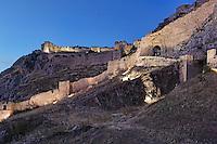 The castle of Akrokorinthos, Greece