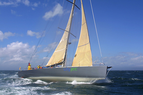 The Open 60 Cityjet Solene set a new fully-crewed mono-hull record in 2005