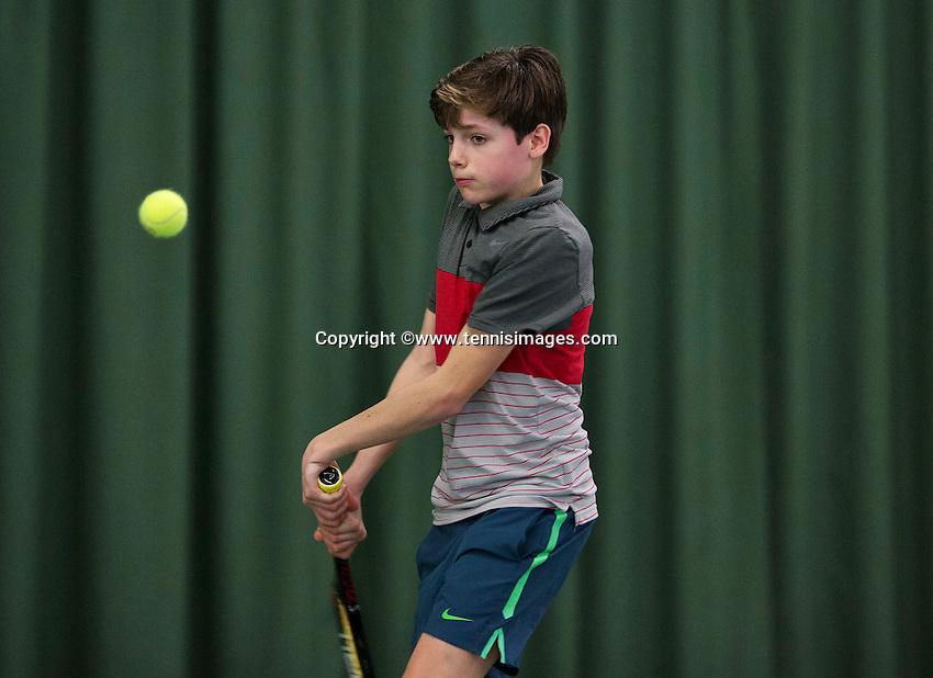 Rotterdam, The Netherlands, March 19, 2016,  TV Victoria, NOJK 14/18 years, Jort Nijdam (NED)<br /> Photo: Tennisimages/Henk Koster