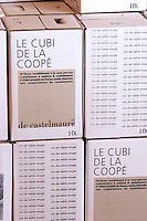 Bag in Box Bib cubitainer, Le Cubi de la Cooper, 10 litres. Embres et Castelmaure Cave Cooperative co-operative. Les Corbieres. Languedoc. The wine shop and tasting room. France. Europe.